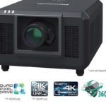The Panasonic PT-RQ35K is the smallest and lightest 3-DLP laser projector with a luminous flux of 30,000 lm
