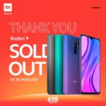 The whole batch of Redmi 9 dared from the shelves