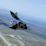 """Spaceship Virgin Galactic SpaceShipTwo made its second flight from the spaceport """"America"""""""