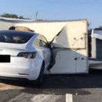 Another stupid accident involving a Tesla autopilot. The car did not see a truck lying on the road